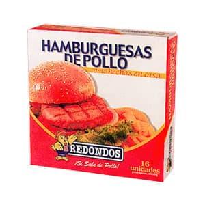 Hamburguesas de pollo caja 16 unidades Redondos - Cod:ABC06