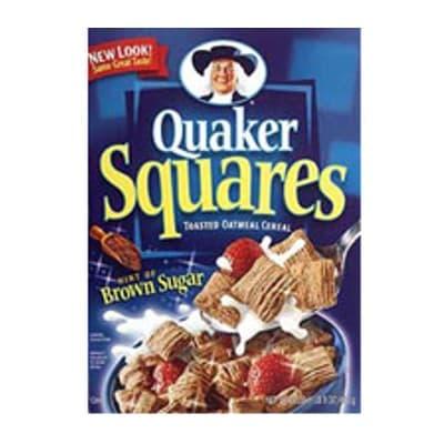 Quaker Squares x 453grs **Quaker** - Codigo:ABF35 - Detalles: Cereal crujiente de avena con azucar mascabado.  - - Para mayores informes llamenos al Telf: 225-5120 o 980-660044.