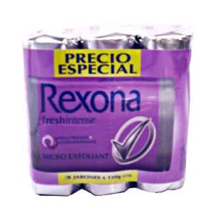 Jabón Rexona fresh intense x 3 unid. - Cod:ABJ16