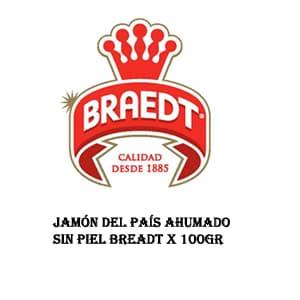 Jamón del País Ahumado sin piel Breadt x 100gr - Cod:ABL08
