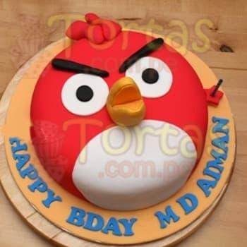 Torta de Angry Birds | Pastel de Angry Birds - Cod:ABR04