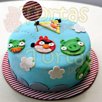 Tortas Angry Birds | Pastel con tema Angry Birds - Cod:ABR05