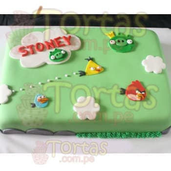 Angry Birds Tortas | Torta Angry Birds rectangular - Whatsapp: 980-660044