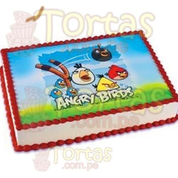 Foto Torta Angry Bird | Pasteles de Angry Birds - Cod:ABR08