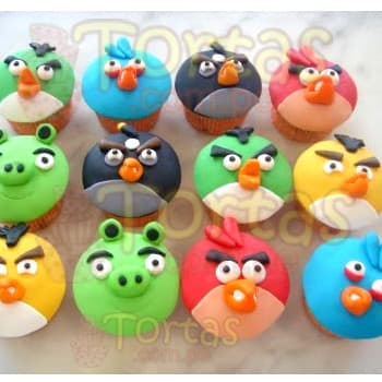 cupcakes angry Birds | Pasteles de Angry Birds - Cod:ABR09