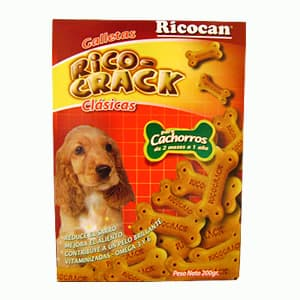 Rico crack clasicas naturale.p/cachorros 2meses 1 año200gr,. - Cod:ABS08