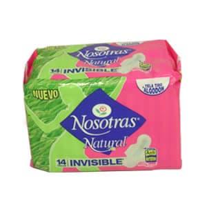 Nosotras Natural Plus Tela x 14 Unid. - Cod:ABV11