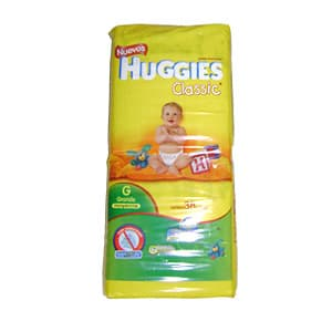 Huggies Classic Pañal x 38 Unid. Talla - G - Cod:ABV24