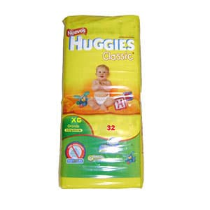 Huggies Classic Pañal x 32 Unid. Talla - XG - Cod:ABV26