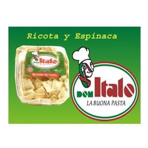 Ravioles Don Italo de 500gr - Ricotta y espinaca | Ravioles - Cod:ABW10