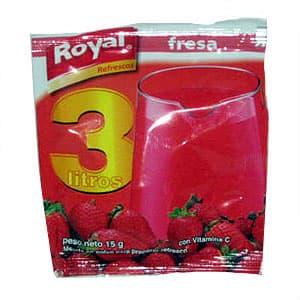 Fresa Royal 15grs Unid. | Refresco de Fresa - Cod:ABZ02