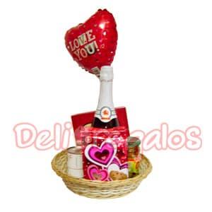 Canasta de regalos mi amor - Codigo:ACI02 - Whatsapp: 980-660044.
