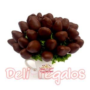 Arreglo de Frutas con Fresas bañadas en chocolate - Cod:ACI04