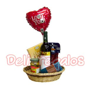 Canasta de regalo Recu�rdame - Codigo:ACI08 - Whatsapp: 980-660044.