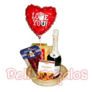 Canasta de regalo We are In love - Codigo:ACI13 - Whatsapp: 980660044