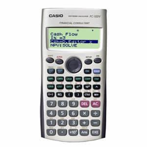 I-quiero.com - CALCULADORA CASIO - FC-100V - Codigo:ACM09 - Detalles: CALCULADORA CASIO - FC-100V - PANTALLA DE 4 LINEAS X 10 DIGITOS . - CALCULO DE INTERES SIMPLE Y COMPUESTO - EVALUACION DE INVERS.(FLUJO DE EFECT.) - AMORTIZACION, CALCULO DE DIAS, - COSTO, VENTA, MARGEN DE GANANCIA * GARANTIA: 06 MESES  - - Para mayores informes llamenos al Telf: 225-5120 o 476-0753.