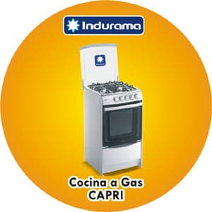 i-quiero.com - COCINA A GAS INDURAMA - CAPRI LINEA2/SPAZIO3 - Codigo:ACP02 - Detalles: