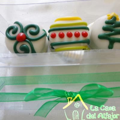 Alfajores con tematica de Navidad - Cod:AFN04