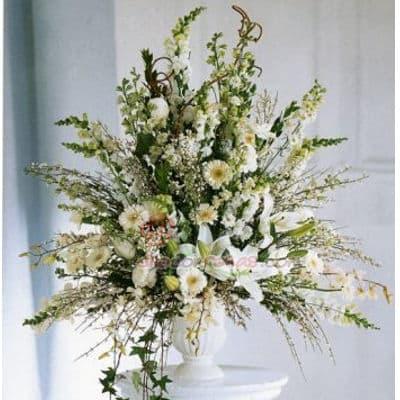 Arreglo para Aniversario Flores Blancas y Melones - Cod:AGP06