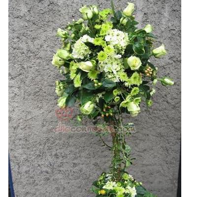 Arreglo para Aniversario con Flores Blanco - Cod:AGP01