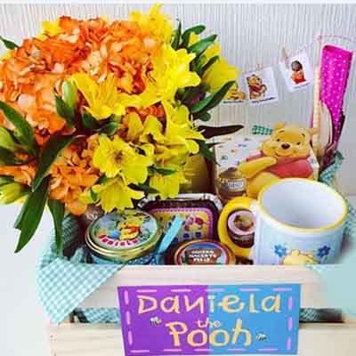Desayuno Winnie Pooh con taza- Whatsapp: 980-660044