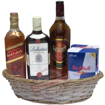 Grameco.com - Canasta A�o Nuevo 1 - Codigo:ANN01 - Detalles: Canasta de mimbre, incluyendo: