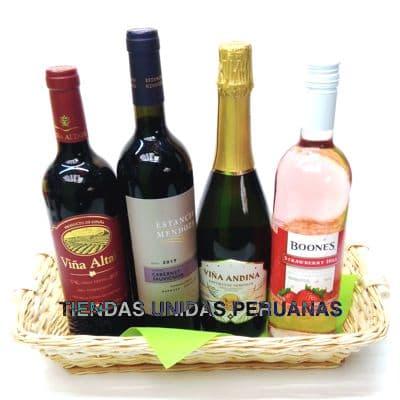 Vinos Delivery | Canasta con Vinos - Cod:ANN02