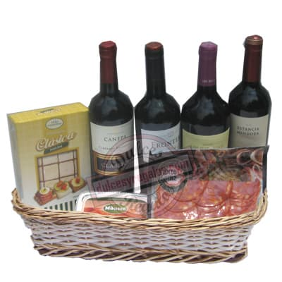 Delivery de Vinos en Lima | Licores Nacionales e Importados | Canasta Vino y Meriendas - Cod:ANN06