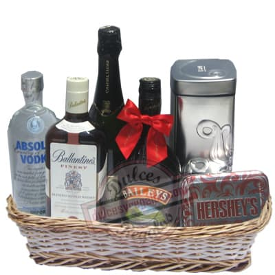 Grameco.com - Canasta A�o Nuevo 11 - Codigo:ANN11 - Detalles: Canasta de mimbre, incluyendo: