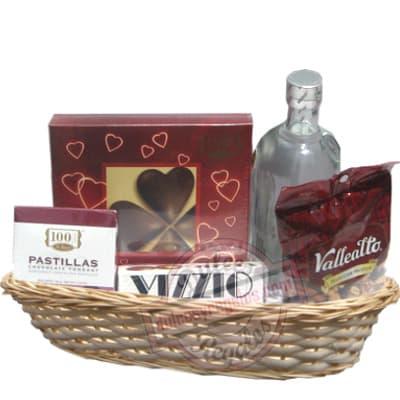 Productos Gourmet, Dulces, Vinos y Licores - Rosatel | Canasta con Licores - Cod:ANN20