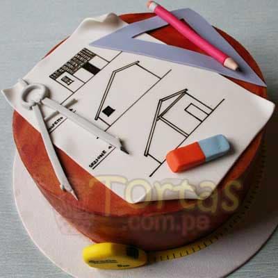 Torta Plano Arquitecto - Cod:ARQ02