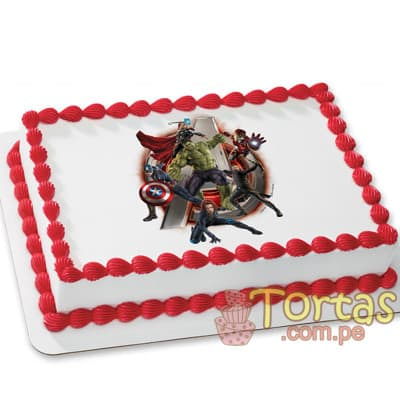 Torta Avengers | Torta de Avengers - Cod:AVC01