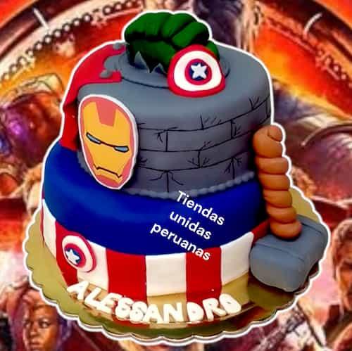 Torta Avengers | Torta con el tema Avengers  - Cod:AVC06