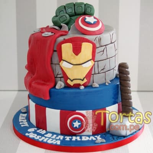 Torta de Avengers  - Cod:ENP05