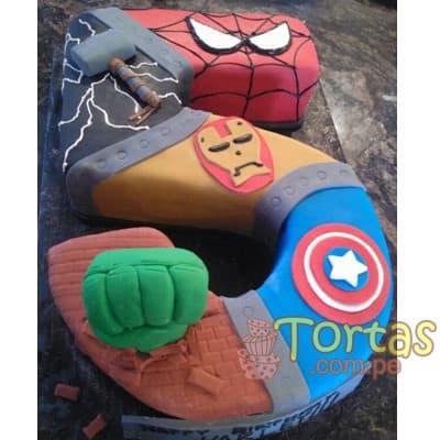 Torta Avengers | Torta de la tematica Avengers - Cod:AVC07