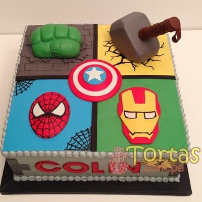 Torta Avengers | Torta de los Avengers  - Whatsapp: 980-660044