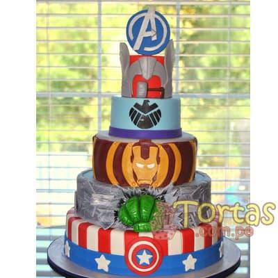 Torta Avengers | Pastel Avengers de 5 pisos - Cod:AVC09