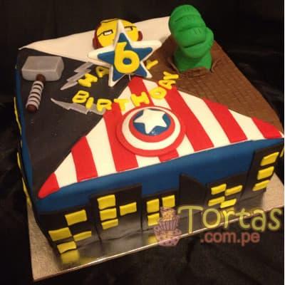 Torta de los Vengadores- Whatsapp: 980-660044