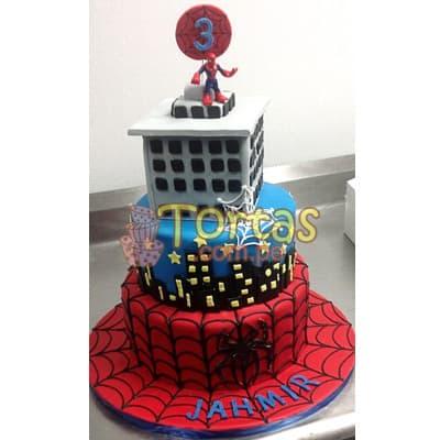 Torta Hombre Araña | Torta hombre Araña de 4 pisos - Cod:AVC14