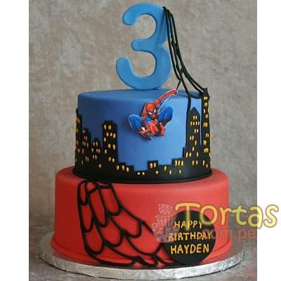 Torta con tema Hombre araña - Cod:AVC15