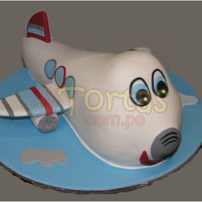 Torta Avion de 40cm - Whatsapp: 980-660044