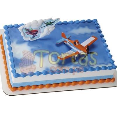 Torta Aviones Disney con detalles - Whatsapp: 980-660044