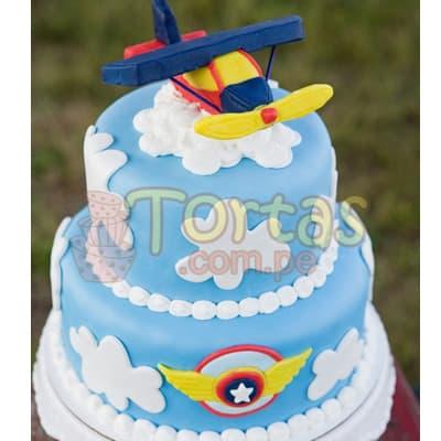 Torta Aviones | Tortas de Aviones para Niños - Cod:AVN03