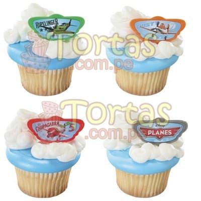 Muffins a domicilio | Muffins con adornos Aviones Disney - Cod:AVN04