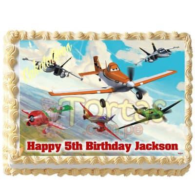 Torta Aviones | Foto-Torta Aviones Disney - Cod:AVN05