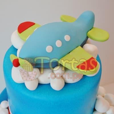 Torta Aviones | Torta Aviones 20cm - Cod:AVN07