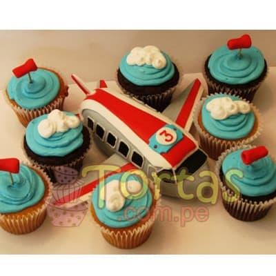 Torta Aviones | Cupcakes Aviones - Cod:AVN10