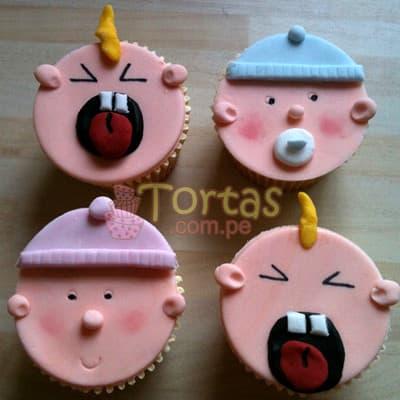 Cupcakes para bebes - Cod:BBC01