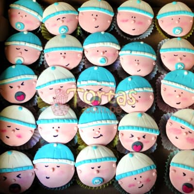 Cupcakes de Baby Shower - Codigo:BBC04 - Whatsapp: 980660044