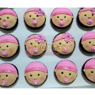 Cupcakes Carita de Bebes - Cod:BBC06